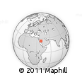 Outline Map of Medina, rectangular outline