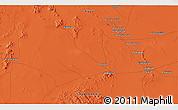 Political 3D Map of Aḑ Ḑādīyah