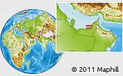 Physical Location Map of Al Muqaţţarah