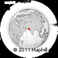 Outline Map of Sharif Shoro, rectangular outline