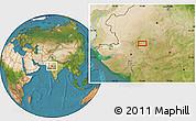 Satellite Location Map of Udaipur