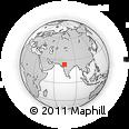 Outline Map of Udaipur, rectangular outline