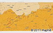Political 3D Map of Bārāchati