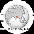 Outline Map of Bārāchati, rectangular outline
