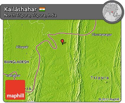 Free Physical 3d Map Of Kailāshahar