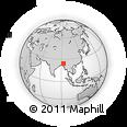 Outline Map of Saihapui V, rectangular outline