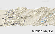 Shaded Relief Panoramic Map of Dalang