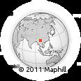 Outline Map of Deju, rectangular outline