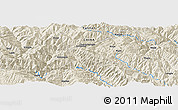 """Shaded Relief Panoramic Map of the area around 24°52'30""""N,100°22'30""""E"""