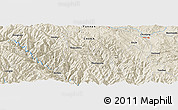 Shaded Relief Panoramic Map of Sanjie