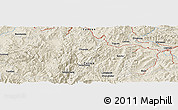 Shaded Relief Panoramic Map of Jiuzhuang