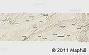 Shaded Relief Panoramic Map of Majie