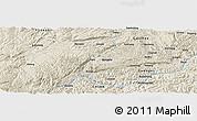 Shaded Relief Panoramic Map of Taiping