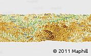 Physical Panoramic Map of Longlin