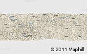 Shaded Relief Panoramic Map of Gantian