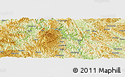 Physical Panoramic Map of Huangjiang