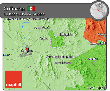 Culiacan Sinaloa Mexico Map.Free Political Map Of Culiacan