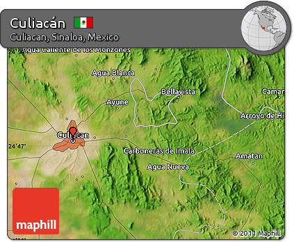 Culiacan Sinaloa Mexico Map.Free Satellite Map Of Culiacan