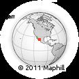 Outline Map of Altata, rectangular outline