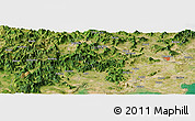 Satellite Panoramic Map of Gantou