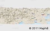Shaded Relief Panoramic Map of Gantou