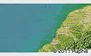 """Satellite 3D Map of the area around 24°52'30""""N,120°46'30""""E"""