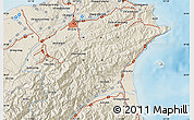 Shaded Relief Map of Taipei