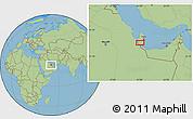 "Savanna Style Location Map of the area around 24°52'30""N,51°4'30""E"