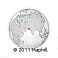 """Outline Map of the Area around 24° 52' 30"""" N, 66° 22' 30"""" E, rectangular outline"""