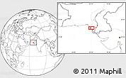 Blank Location Map of Karāchi