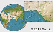 Satellite Location Map of Karāchi