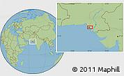 Savanna Style Location Map of Karāchi