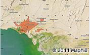 Satellite Map of Karāchi