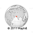 Outline Map of Makli, rectangular outline