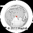 Outline Map of Badīn, rectangular outline