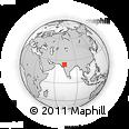 Outline Map of Aravalli Range, rectangular outline
