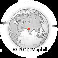 Outline Map of Balathal, rectangular outline