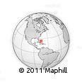 Outline Map of Dumfries, rectangular outline