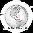 Outline Map of Nassau, rectangular outline