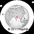 Outline Map of Vindhya Range, rectangular outline