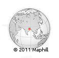 Outline Map of Jamui, rectangular outline
