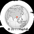 Outline Map of Haili, rectangular outline