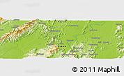 Physical Panoramic Map of Haili