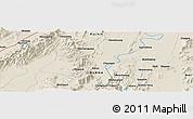 Shaded Relief Panoramic Map of Haili