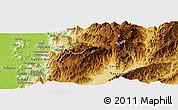 Physical Panoramic Map of Aurapum