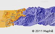 Political Panoramic Map of Aurapum