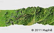 Satellite Panoramic Map of Aurapum