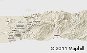 Shaded Relief Panoramic Map of Aurapum