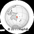 Outline Map of Calliope, rectangular outline