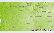 Physical 3D Map of Belambiry